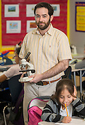 Robert Uzick teaches science at Cunningham Elementary School, May 14, 2015.