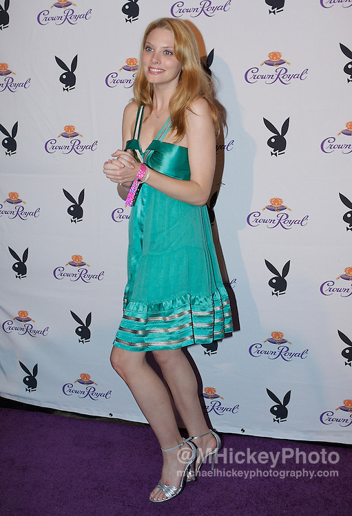 April Bowlby of Two and a Half Men at the Kentucky Derby Crown Royal Playboy party in Louisville, Kentucky on May 4 , 2007. Photo by Michael Hickey