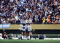 ARGENTINA TEAM CELEBRATE AFTER THE FINAL WHISTLE<br />