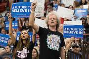 Supporters cheer for democratic presidential candidate Sen. Bernie Sanders before he speaks during a campaign rally on February 28, 2016 in Oklahoma City, Oklahoma.  (Cooper Neill for The New York Times)