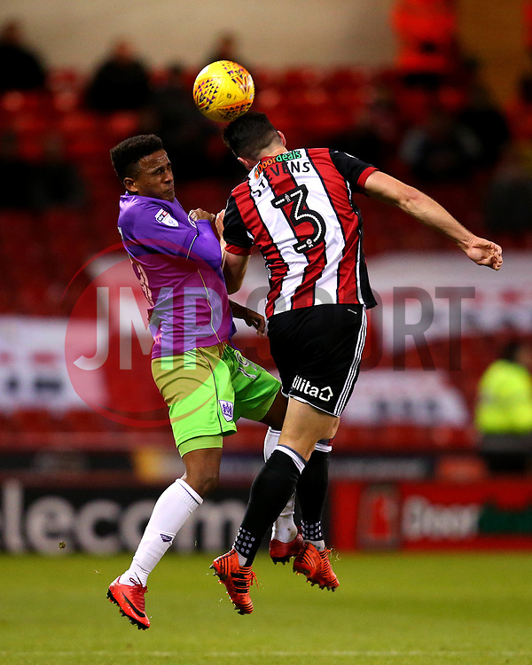 Niclas Eliasson of Bristol City challenges Enda Stevens of Sheffield United - Mandatory by-line: Robbie Stephenson/JMP - 08/12/2017 - FOOTBALL - Bramall Lane - Sheffield, England - Sheffield United v Bristol City - Sky Bet Championship