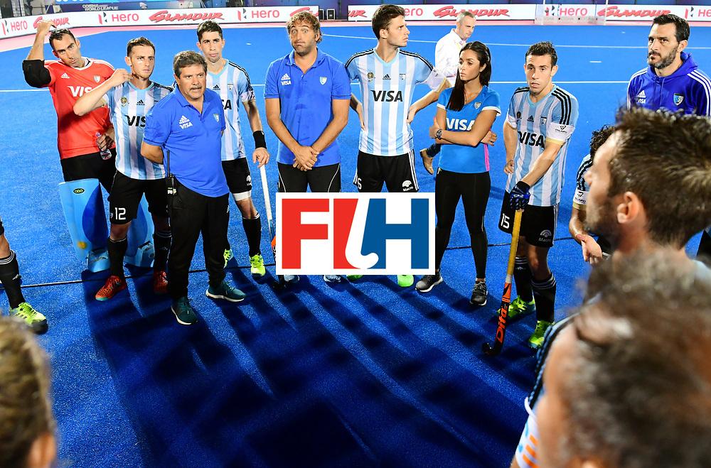 Odisha Men's Hockey World League Final Bhubaneswar 2017<br /> Match id:22<br /> Argentina v Australia<br /> Foto: Australia wins the Odisha Men's Hockey World League Final.<br /> Team Argentina coach Carlos Retegui (Arg) <br /> WORLDSPORTPICS COPYRIGHT KOEN SUYK