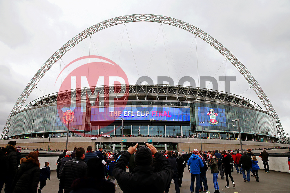 A general view of Wembley Stadium - Mandatory by-line: Matt McNulty/JMP - 26/02/2017 - FOOTBALL - Wembley Stadium - London, England - Manchester United v Southampton - EFL Cup Final
