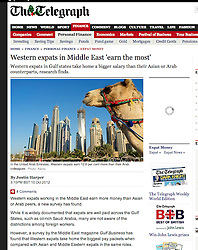 The Telegraph; Skyline of Dubai with camel