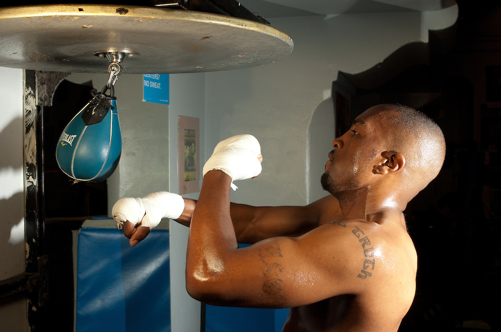 23 April 2011: Buddy Tyson trains at the La Habra Boxing Club, in La Habra, CA.
