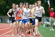 2011/05/28 - Nick Guarino of SUNY Fredonia (center, in sunglasses) competes in the 1500-meter final at the 2011 NCAA Division-3 Championships in Delaware, Ohio. Guarino won in 3:53.43, and later won the 800-meter run, making him the first Division-3 runner to win both events since Nick Symmonds in 2006.