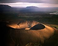 Hverfjall séð til suðurs, Skútustaðahreppur / Hverfjall explosion crater viewing south. Lake Myvatn district. Skutustadahreppur.