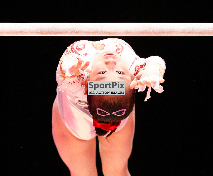 2015 Artistic Gymnastics World Championships being held in Glasgow from 23rd October to 1st November 2015...Jiaxin Tan (Peoples Republic of China) competing in the Uneven Bars competition...(c) STEPHEN LAWSON | SportPix.org.uk