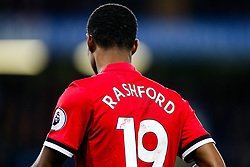 Marcus Rashford of Manchester United has blood on the back of his shirt - Rogan/JMP - 05/11/2017 - FOOTBALL - Stamford Bridge - London, England - Chelsea v Manchester United - Premier League.