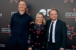 "Left to Right Rupert Jones, Sinead Matthews,Toby Jones, on the red carpet during the Edinburgh International Film Festival UK Premier of ""KALEIDESCOPE"" at Cineworld, Saturday 24th June 2017(c) Brian Anderson 
