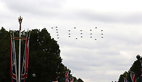 100, Typhoon FGR4, RAF100 Parade and Flypast, The Mall & Buckingham Palace, London, UK, 10 July 2018, Photo by Richard Goldschmidt, Royal Air Force Centenary parade and flypast of RAF aircraft over London.