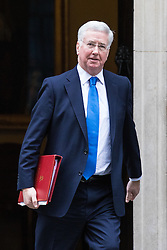 © Licensed to London News Pictures. 10/01/2017. London, UK.  Defence Secretary Michael Fallon leaves Downing Street after the weekly Cabinet meeting. Photo credit: Rob Pinney/LNP