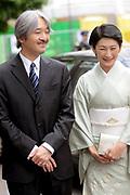 De Japanse prins Akishino , prinses Kiko Prins Constantijn en Prinses Laurentien komen aan op het binnenhof Op de foto: prinses Kiko en prins Akishino
