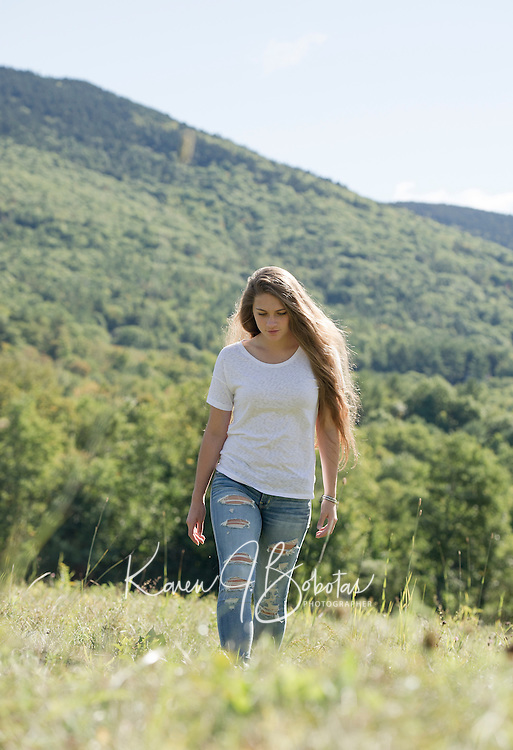 Cassidy Bartlett senior portrait session.   ©2015 Karen Bobotas Photographer