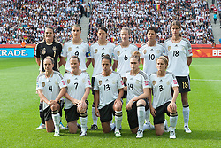 26.06.2011, Olympiastadion Berlin, Berlin, GER, FIFA Women's Worldcup 2011, Gruppe A,  Deutschland (GER) vs. Canada (CAN), im Bild Nadine Angerer (Torwart GWE #01, Frankfurt) Birgit Prinz (GER #09, Frankfurt) Annike Krahn (GER #05, Duisburg) Simone Laudehr (GER #06, Duisburg) Linda Bresonik (GER #10 #10, Duisburg) g18.Babett Peter (GER #04, Potdsdam) Melanie Behringer (GER #07, Frankfurt) Celia Okoyino a Mbabi (GER13 #14, Bad Neuenahr) Kim Kulig (GER #14, Hamburg) Saskia Bartusiak (GER #03, Frankfurt) // during the FIFA Women's Worldcup 2011, Pool A, Germany vs Canada on 2011/06/26, Olympiastadion, Berlin, Germany.   EXPA Pictures © 2011, PhotoCredit: EXPA/ nph/  Kokenge       ****** out of GER / SWE / CRO  / BEL ******