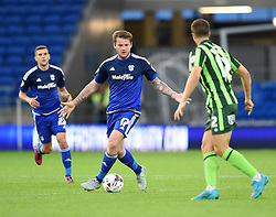 Aron Gunnarsson of Cardiff City looks for options - Mandatory by-line: Paul Knight/JMP - Mobile: 07966 386802 - 11/08/2015 -  FOOTBALL - Cardiff City Stadium - Cardiff, Wales -  Cardiff City v AFC Wimbledon - Capital One Cup