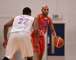 Cardell McFarland of Bristol Flyers - Photo mandatory by-line: Paul Knight/JMP - Mobile: 07966 386802 - 30/01/2016 - BASKETBALL - SGS Wise Arena - Bristol, England - Bristol Flyers v Leeds Force - British Basketball League