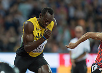 Athletics - 2017 IAAF London World Athletics Championships - Day One<br /> <br /> Event: Men's 100 Metres Qualifying <br /> <br /> Usain Bolt (JAM)<br /> <br /> <br /> COLORSPORT/DANIEL BEARHAM