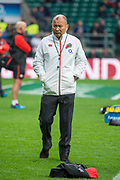 Twickenham, Surrey United Kingdom. Head Coach, Eddie JONES, pre game training session. England vs Argentina. Autumn International, Old Mutual Wealth series. RFU. Twickenham Stadium, England. <br /> <br /> Saturday  11.11.17.    <br /> <br /> [Mandatory Credit Peter SPURRIER/Intersport Images]