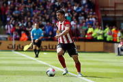 Enda Stevens of Sheffield United during the Premier League match between Sheffield United and Crystal Palace at Bramall Lane, Sheffield, England on 18 August 2019.
