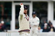 Jack Leach of Somerset during the opening day of the Specsavers County Champ Div 1 match between Somerset County Cricket Club and Hampshire County Cricket Club at the Cooper Associates County Ground, Taunton, United Kingdom on 11 May 2018. Picture by Graham Hunt.