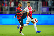 Flamengo forward Miguel Trauco (13) in action during a Florida Cup match at Orlando City Stadium on Jan. 10, 2019 in Orlando, Florida. <br /> Flamengo won in penalties 4-3.<br /> <br /> ©2019 Scott A. Miller