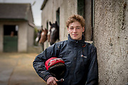 10-3-17<br /> <br /> Jockey David Mullins pictured at the stud farm in Duninga Goresbride Co. Kilkenny ahead of next weeks Cheltenham Festival 2017.<br /> <br /> Picture Dylan Vaughan.
