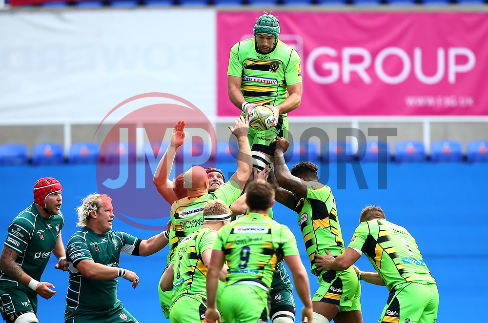 Michael Paterson of Northampton Saints claims the ball from a line out - Mandatory by-line: Robbie Stephenson/JMP - 24/09/2017 - RUGBY - Madejski Stadium - Reading, England - London Irish v Northampton Saints - Aviva Premiership