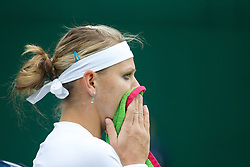 LONDON, ENGLAND - Monday, June 24, 2013: Lucie Safarova (CZE) during the Ladies' Singles 1st Round match on day one of the Wimbledon Lawn Tennis Championships at the All England Lawn Tennis and Croquet Club. (Pic by David Rawcliffe/Propaganda)