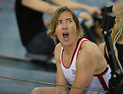 London, United Kingdom. Katherine GRAINGER,  with verbal support for her team mate.  2015 British Rowing Indoor Championships.  Lee Valley Velodrome. [ Venue for the 2012 London Olympic Track Cycling]  Sunday  08/02/2015  [Mandatory Credit; Peter Spurrier/Intersport-images]
