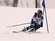 First overall in the girls slalom and third in the giant slalom individual competitions, Anna Causley of Harbor Springs makes her first of two giant slalom runs at Boyne Highlands Resort in Harbor Springs at the Division 2 State Ski Finals.