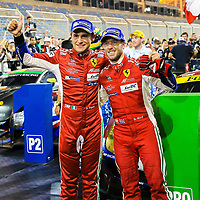 #71, AF Corse Ferrari, Ferrari 488 GTE, driven by: Davide Rigon, Sam Bird, WEC BAPCO 6 Hours of Bahrain, 18/11/2017,