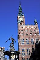 Town Hall at Dlugi Targ (Long Market square), old town. Gdansk. Pomerania. Poland
