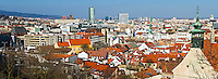 BRATISLAVA, SLOVAKIA - MARCH 7: Panoramic view of downton Bratislava on March 7, 2011. Bratislava is the capital city of Slovakia and a mayor tourist destination.