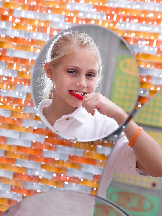 Doctor's office Boca Raton young girl brushing teeth