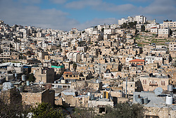 2 March 2020, Hebron: View of the Old City, Hebron, West Bank.
