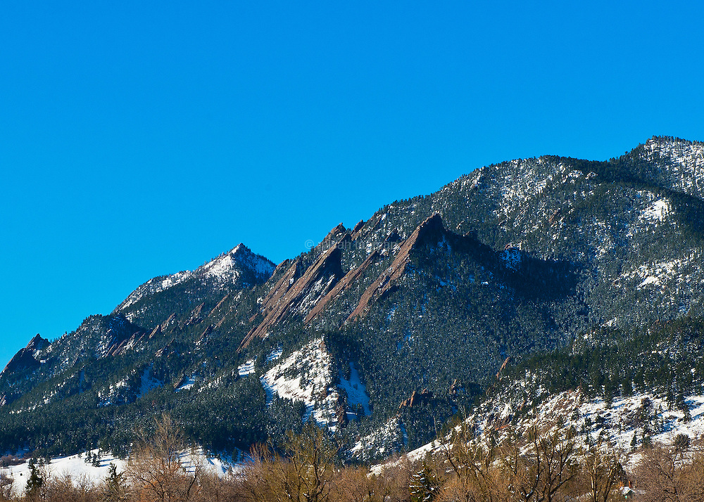 Views of the Front Range near Boulder, Colorado