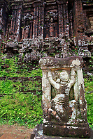 A Hindu stone carving in the grounds of My Son Sanctuary, central Vietnam