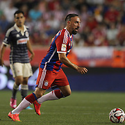 Franck Ribery, Bayern Munich, in action during the FC Bayern Munich vs Chivas Guadalajara, friendly football match at Red Bull Arena, New Jersey, USA. 31st July 2014. Photo Tim Clayton