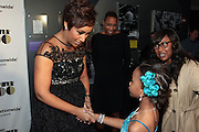 November 2, 2012- New York, NY: (L-R) Desiree Rogers, CEO, Johnson Publishing Company and Actress Quvenzhane Wallis (Honoree) at the Ebony Power 100 Gala Presented by Nationwide held at Jazz at Lincoln Center on November 2, 2012 in New York City. The EBONY Power 100 Gala Presented by Nationwide salutes the country's most influential African Americans.(Terrence Jennings)