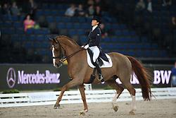 Ferrer-Salat Beatriz, (ESP), Delgado<br /> Grand Prix Dressage<br /> Stuttgart - German Masters 2015<br /> © Hippo Foto - Stefan Lafrentz