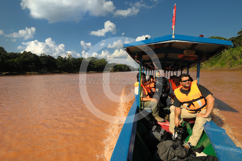 Navigation on the river Tambopata