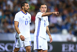 September 5, 2017 - Reggio Emilia, Italy - Shir Tzedek of Israel and Bibars Natcho of Israel during the FIFA World Cup 2018 qualification football match between Italy and Israel at Mapei Stadium in Reggio Emilia on September 5, 2017. (Credit Image: © Matteo Ciambelli/NurPhoto via ZUMA Press)