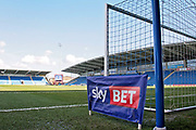 A stadium shot with the SkyBet advertising board in the foreground before the EFL Sky Bet League 2 match between Chesterfield and Notts County at the b2net stadium, Chesterfield, England on 25 March 2018. Picture by Nigel Cole.