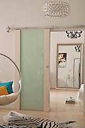 16.03.2010  Warszawa mieszkanie przy ul Asfaltowej Fot Piotr Gesicki Photography of Contemporary modern Apartment interior in Warsaw Poland in bright colors Apartment interior