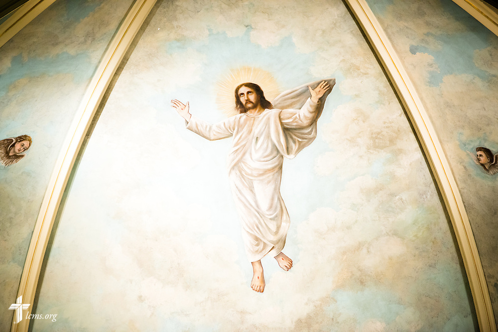 A painting of Jesus Christ above the altar at Trinity Lutheran Church on Wednesday, July 15, 2015, in Danville, Ill. LCMS Communications/Erik M. Lunsford