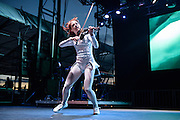 Photos of Lindsey Stirling performing live during the Billboard Hot 100 Music Festival at Nikon at Jones Beach Theatre in Wantagh, NY. August 23, 2015. Copyright © 2015. Matthew Eisman. All Rights Reserved