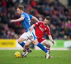 St Johnstone&rsquo;s Liam Craig and Aberdeen&rsquo;s Cammy Smith. <br /> St Johnstone 3 v 4Aberdeen, SPFL Ladbrokes Premiership played 6/2/2016 at McDiarmid Park, Perth.