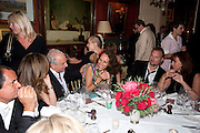 SIR PHILIP GREEN; ALICE DELLAL; ANDREA DELLAL;  JUERGEN TELLER, Dinner hosted by Elizabeth Saltzman for Mario Testino and Kate Moss. Mark's Club. London. 5 June 2010. -DO NOT ARCHIVE-© Copyright Photograph by Dafydd Jones. 248 Clapham Rd. London SW9 0PZ. Tel 0207 820 0771. www.dafjones.com.