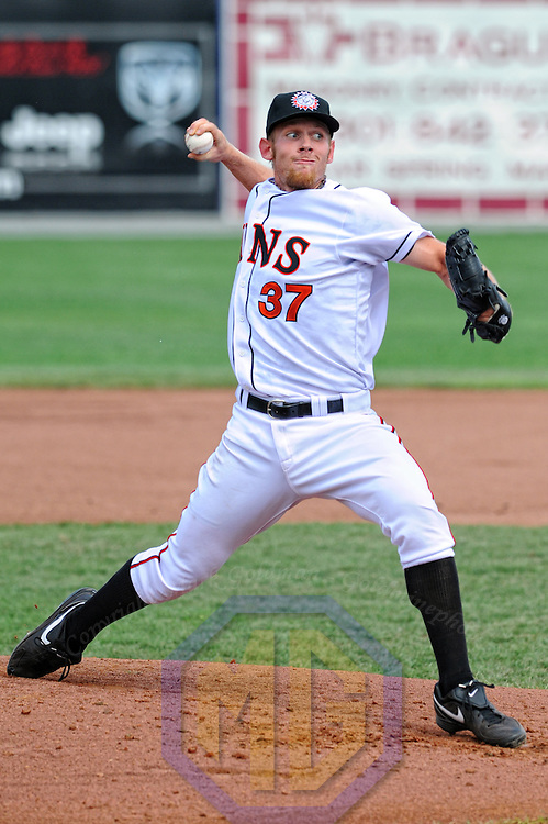 07 August 2011: Stephen Strasburg pitches against the Greensboro Grasshoppers in his first rehab assignment for the Class A Hagerstown Suns since his Tommy John surgery in September 2010 on August 7, 2011 in Hagerstown, Maryland